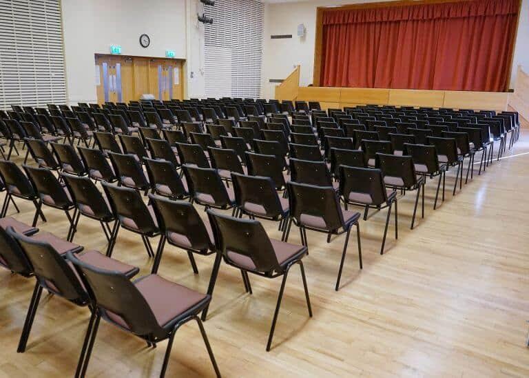 Main Hall Theatre Setup