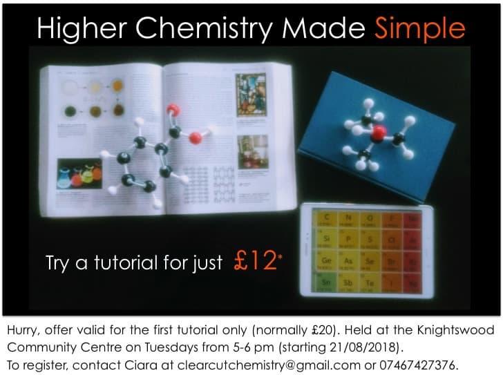New classes starting for Higher Chemistry