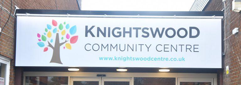 Knightswood community centre entrance slide